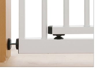 Treppenschutzgitter Impag in XXL mit extra breiter Komfort-Tür