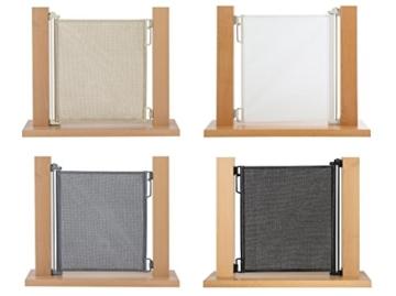 li il treppenschutzgitter impag mit integriertem rollo super. Black Bedroom Furniture Sets. Home Design Ideas
